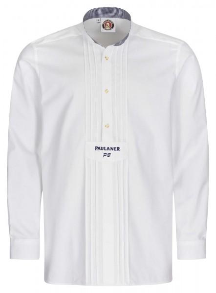 Paulaner Trachtenhemd - weiß mit Initialen