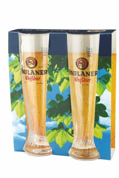 """Paulaner Präsentpackung """"Weißbier-Glas"""" 2er Set"""