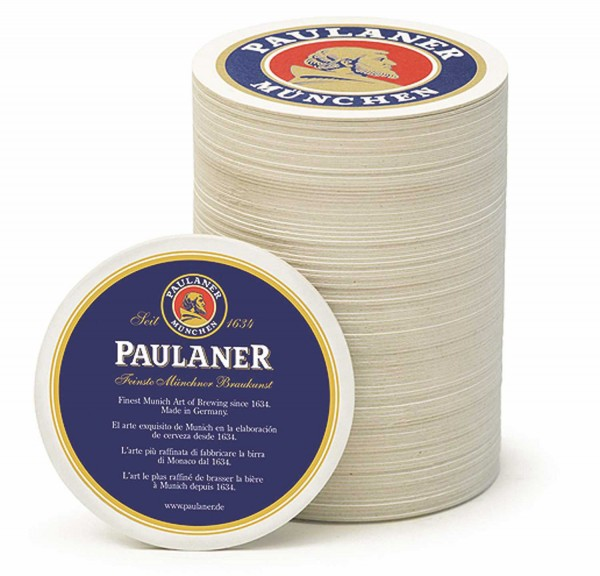 "Paulaner Coasters ""International"" 100 Pcs."