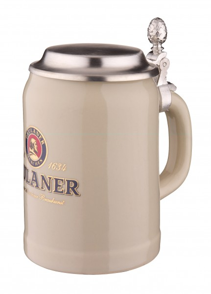 Paulaner Beer Stein with Tin Lid 0,5 l
